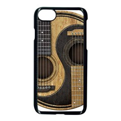 Old And Worn Acoustic Guitars Yin Yang Apple Iphone 7 Seamless Case (black) by JeffBartels