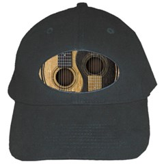 Old And Worn Acoustic Guitars Yin Yang Black Cap by JeffBartels