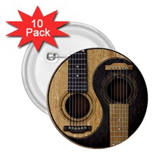 Old And Worn Acoustic Guitars Yin Yang 2 25  Buttons (10 Pack)  by JeffBartels