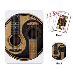 Old And Worn Acoustic Guitars Yin Yang Playing Card by JeffBartels