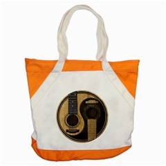 Old And Worn Acoustic Guitars Yin Yang Accent Tote Bag by JeffBartels