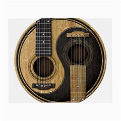 Old And Worn Acoustic Guitars Yin Yang Small Glasses Cloth (2 Side) by JeffBartels
