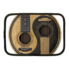 Old And Worn Acoustic Guitars Yin Yang Netbook Case (medium)  by JeffBartels