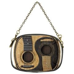 Old And Worn Acoustic Guitars Yin Yang Chain Purses (two Sides)  by JeffBartels