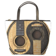 Old And Worn Acoustic Guitars Yin Yang Bucket Bags by JeffBartels