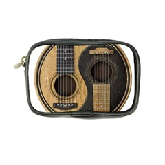 Old And Worn Acoustic Guitars Yin Yang Coin Purse by JeffBartels