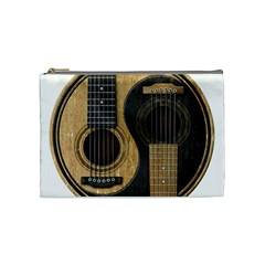 Old And Worn Acoustic Guitars Yin Yang Cosmetic Bag (medium)  by JeffBartels