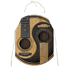 Old And Worn Acoustic Guitars Yin Yang Full Print Aprons by JeffBartels