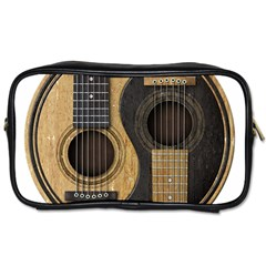Old And Worn Acoustic Guitars Yin Yang Toiletries Bags by JeffBartels