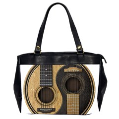 Old And Worn Acoustic Guitars Yin Yang Office Handbags (2 Sides)  by JeffBartels
