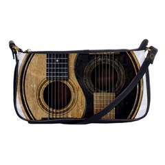 Old And Worn Acoustic Guitars Yin Yang Shoulder Clutch Bags by JeffBartels