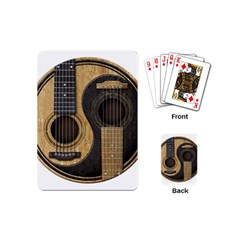 Old And Worn Acoustic Guitars Yin Yang Playing Cards (mini)  by JeffBartels