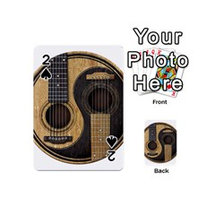 Old And Worn Acoustic Guitars Yin Yang Playing Cards 54 (mini)  by JeffBartels