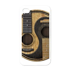 Old And Worn Acoustic Guitars Yin Yang Apple Iphone 4 Case (white) by JeffBartels