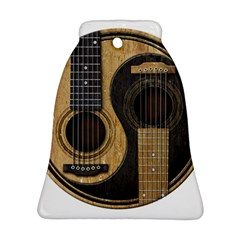 Old And Worn Acoustic Guitars Yin Yang Bell Ornament (two Sides) by JeffBartels