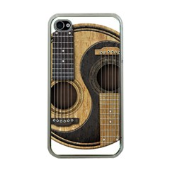 Old And Worn Acoustic Guitars Yin Yang Apple Iphone 4 Case (clear) by JeffBartels