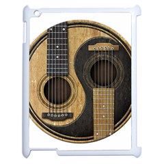 Old And Worn Acoustic Guitars Yin Yang Apple Ipad 2 Case (white) by JeffBartels