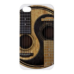 Old And Worn Acoustic Guitars Yin Yang Apple Iphone 4/4s Premium Hardshell Case by JeffBartels