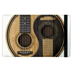 Old And Worn Acoustic Guitars Yin Yang Apple Ipad 2 Flip Case by JeffBartels