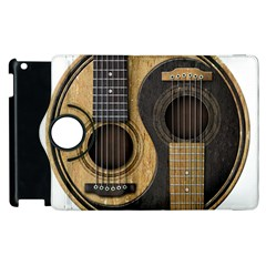 Old And Worn Acoustic Guitars Yin Yang Apple Ipad 2 Flip 360 Case by JeffBartels