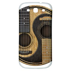 Old And Worn Acoustic Guitars Yin Yang Samsung Galaxy S3 S Iii Classic Hardshell Back Case by JeffBartels