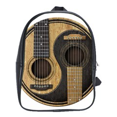 Old And Worn Acoustic Guitars Yin Yang School Bags (xl)  by JeffBartels