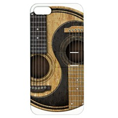 Old And Worn Acoustic Guitars Yin Yang Apple Iphone 5 Hardshell Case With Stand by JeffBartels
