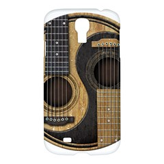 Old And Worn Acoustic Guitars Yin Yang Samsung Galaxy S4 I9500/i9505 Hardshell Case by JeffBartels