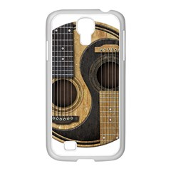 Old And Worn Acoustic Guitars Yin Yang Samsung Galaxy S4 I9500/ I9505 Case (white) by JeffBartels