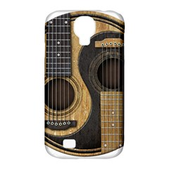Old And Worn Acoustic Guitars Yin Yang Samsung Galaxy S4 Classic Hardshell Case (pc+silicone) by JeffBartels