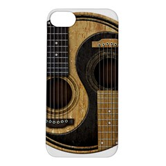 Old And Worn Acoustic Guitars Yin Yang Apple Iphone 5s/ Se Hardshell Case by JeffBartels