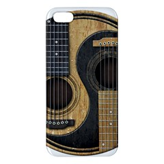 Old And Worn Acoustic Guitars Yin Yang Iphone 5s/ Se Premium Hardshell Case by JeffBartels
