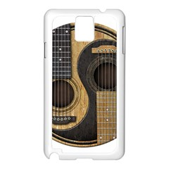 Old And Worn Acoustic Guitars Yin Yang Samsung Galaxy Note 3 N9005 Case (white) by JeffBartels
