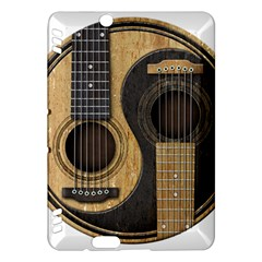 Old And Worn Acoustic Guitars Yin Yang Kindle Fire Hdx Hardshell Case by JeffBartels