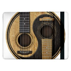 Old And Worn Acoustic Guitars Yin Yang Samsung Galaxy Tab Pro 12 2  Flip Case by JeffBartels