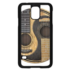 Old And Worn Acoustic Guitars Yin Yang Samsung Galaxy S5 Case (black) by JeffBartels