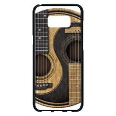 Old And Worn Acoustic Guitars Yin Yang Samsung Galaxy S8 Plus Black Seamless Case by JeffBartels