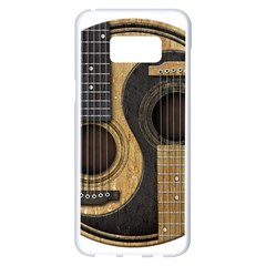 Old And Worn Acoustic Guitars Yin Yang Samsung Galaxy S8 Plus White Seamless Case by JeffBartels
