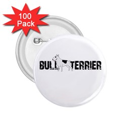 Bull Terrier  2 25  Buttons (100 Pack)  by Valentinaart