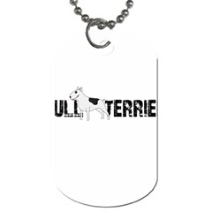 Bull Terrier  Dog Tag (two Sides) by Valentinaart