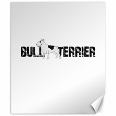 Bull Terrier  Canvas 8  X 10  by Valentinaart