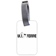 Bull Terrier  Luggage Tags (one Side)  by Valentinaart