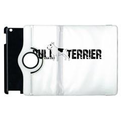 Bull Terrier  Apple Ipad 2 Flip 360 Case by Valentinaart