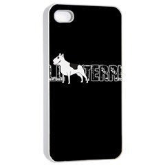Bull Terrier  Apple Iphone 4/4s Seamless Case (white) by Valentinaart