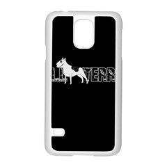 Bull Terrier  Samsung Galaxy S5 Case (white) by Valentinaart