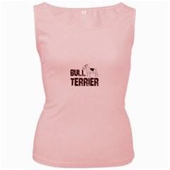 Bull Terrier  Women s Pink Tank Top by Valentinaart