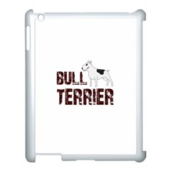 Bull Terrier  Apple Ipad 3/4 Case (white) by Valentinaart