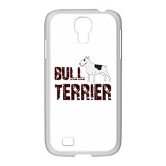 Bull Terrier  Samsung Galaxy S4 I9500/ I9505 Case (white) by Valentinaart
