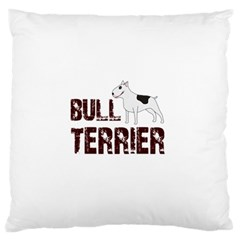 Bull Terrier  Standard Flano Cushion Case (one Side) by Valentinaart