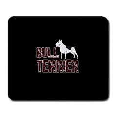 Bull Terrier  Large Mousepads by Valentinaart